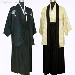 2020 japon hommes vêtements anime Gros-Japon traditionnel kimono samouraïs japonais Costumes Cosplay Vêtements Femmes Hommes cosplay promotion japon hommes vêtements anime