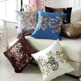 coberturas luxuosas almofadas Desconto Estilo Europeu Luxurious Almofada Bronzing fronha tampa de Ouro Pint fronha Velour Mesa de Jantar Cadeira Sofá Home Decor