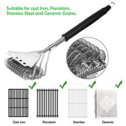 Cook Time Safe Grill Brush - Щетина без барбекю Гриль-очиститель / скребок из нержавеющей стали, чистящий скребок, отличный аксессуар для барбекю от