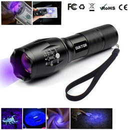 Lanternas uv de 365nm on-line-Nova UV Lanterna Ultravioleta Ultra-Violeta Lanterna Ultravioleta 365nm Invisível Zoomable Tocha para Pet Stains Marcador de Caça ...