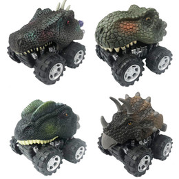 mini counting machine Coupons - Hobbies Diecasts Toy Vehicles 4pcs set Dinosaur Car Toy Tyrannosaurus Rex Mini Pull back car Model Dinosaur Children's Christmas gift B...