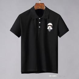 2019 bellezza della maglietta degli uomini New in rilievo Lafayette Lacrosse in cotone POLO manica corta da uomo e donna mezza manica casual bellezza dusa Paris T-shirt top bellezza della maglietta degli uomini economici