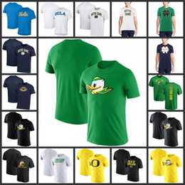 Oregon ducks pantaloncini online-Nuovo arrivo 006 Oregon Ducks College Football Fashion manica corta TShirt stampato 100% cotone Top Tees Casual UCLA ND O collo T-Shirt