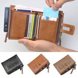 мягкий почтовый кошелек Скидка Мужские роскошь мягкий кожаный RFID преграждая бумажник карты наличные монета молнии карман высокое качество