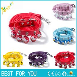 collari per cani da nudo Sconti Lovely Cartoon Bell Collar Easy Wear Collare di cane di gatto con campana regolabile Buckle Collare di cane Cucciolo di gatto Forniture per animali Accessori per cani di gatto Piccolo