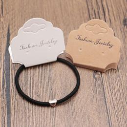 2019 bijoux emballage emballage prix de gros 1000pcs 5 * 9.5cm carte de collier et carte de collier de bijoux tag en affichage de packaging de bijoux peut accepter le logo personnalisé