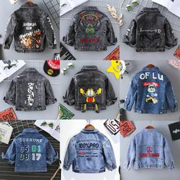 2019 neue Designer Kinder Jungen Denim Kleidung Jacke Baby Street Jacke Jungen Frühling Herbst Denim Outwear 3-8 T von Fabrikanten