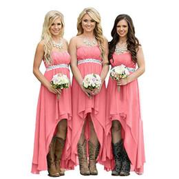 Ucuz Ülke Gelinlik Modelleri 2019 Teal Turkuaz Şifon Sevgiliye Yüksek Düşük Uzun Peplum Düğün Konuk Nedime Hizmetçi Onur Törenlerinde nereden resmi elbise korece kızlar tedarikçiler