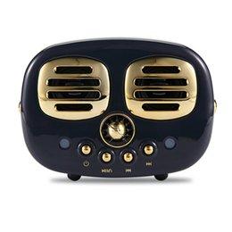 Портативная память bluetooth онлайн-Hm12 Ретро Hi-Fi Стерео Bluetooth V4.1 Динамик Портативный Беспроводной Винтаж Динамик Fm-радио Встроенный Микрофон и Aux Поддержка Карты Памяти
