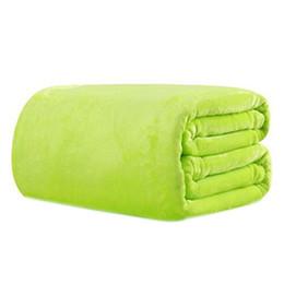 CNIM caliente 70 * 100cm Sofá / aire / juegos de banda de color sólido y Blanket de doble cara viaje franela desde fabricantes