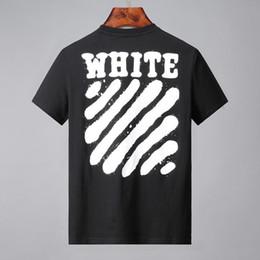 Beso camisetas online-19ss kiss men T-SHIRT off Mangas cortas T-Shirt Temperatura estampados de rayas traseros para hombre tops Mujeres blancas camisetas 24