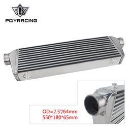 "Intercooler turbo on-line-PQY - 550 * 180 * 65mm Universal Turbo Intercooler Barplate Od = 2,5 ""Montagem dianteira Intercooler PQY-IN812-25"