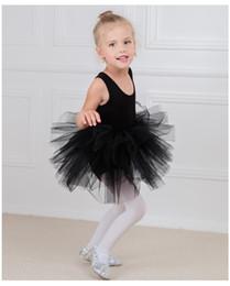 Costumi cigno nero online-Ballerina per bambini balletto abiti per bambini TuTu baby love Abiti da ballo Black swan Dancewear Costumes 3-10T