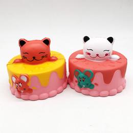 Детские игрушки для детей онлайн-Squishy Kitty торт огромный 10см Медленный рост Мягкий негабаритный телефон Сжимать игрушки Кулон Антистресс Малыш Мультфильм Декомпрессионная игрушка