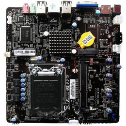 intel express h61 Rebajas Mini itx Placa base H61 17 * 17 Industrial Intel LGA1155 CPU 1 COM Placa base Computadora Placa base profesional todo en uno