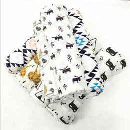 2019 baby swaddle wrap muster INS Tier Musselin Decke Aden Anais Kinder wickeln wickeln Decken Frottee Baby Baby Decke DHL frei Fuchs Bär Panda Muster LXL307 günstig baby swaddle wrap muster