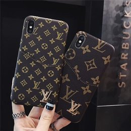 crédito total Desconto Qualidade de luxo grade marcas de couro de ouro tampa completa de volta case para apple iphone x xr xs max 8 7 7 plus 6 6 s além de cartão de crédito capa mole