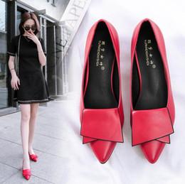 2019 scarpa bassa per la signora 2019 vendita calda signore scarpe a punta scarpe Europa e in America moda selvaggia scarpe con i tacchi bassi donne semplici lavoro e tempo libero scarpe singole sconti scarpa bassa per la signora