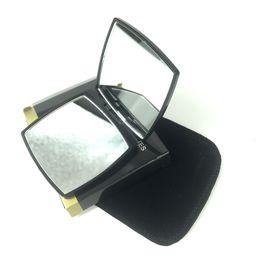2019 folhas de plástico redondas Espelho cosmético conjunto de veludo preto aço Inoxidável rosto pequeno Quadrado espelho senhora moda maquiagem ampliar caixa de presente do espelho claro