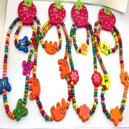 Atacado 30sets Mix Madeira contas das crianças dos miúdos colar de pingentes presentes pulseiras jóias festa de aniversário de revenda de Fornecedores de cosplay rainha
