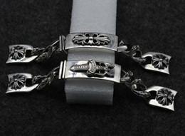 2019 pulseiras de punho jóias traje Acessórios de moda 925 cadeia de relógio de prata esterlina personalidade retro masculino pulseira de prata tailandesa K4816