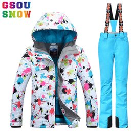 GSOU SNOW Brand Ski Jacket Women Colorful Snowboard Jacket Winter Waterproof Ski Wear Female Skiing Snowboarding Cheap Snow Coat