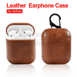 black box wine wholesale Promo Codes - For Airpods Cases Protective Cover PU Leather Hook Clasp Keychain Anti Lost Fashion headphoens Apple airpod Earphone Case Protector