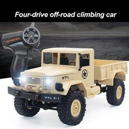 2019 caminhão rastreador rc B-14 Escala Do Caminhão Do Exército 1/16 2.4G 4WD RC Modelo Toy Off-rode Truck Contral Escalada Escalada Rock Crawler Kit Caçoa o Presente desconto caminhão rastreador rc