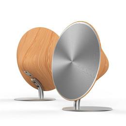 Haut-parleur tactile bluetooth portatif en Ligne-Sans fil SOLO Un Bluetooth Haut-Parleur En Bois Vintage Subwoofer Bluetooth 4.0 Canal Lecteur de Musique avec Surface Tactile Pour iphone XRS