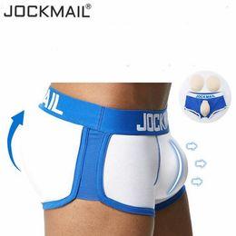 calças justas Desconto JOCKMAIL Sexy Men underwear penis e Butt Hip Enhancer push up cup Acolchoado Gay Underwear Men boxer shorts Butt Lifter Shapewear SH190829