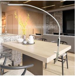 Длинная рукоятка настольная лампа клип офисная настольная лампа с дистанционным управлением глаз защитная лампа для спальни светодиодный свет 5-уровневый BrightnessColor от