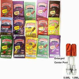 2019 atomizzatore inferiore alimentatore Dabwoods Vape cartucce di ceramica Coil Vape Carts 13 Flavors Legno Tip atomizzatori E-sigarette 510 Discussione 0,8 ml 1,0 ml serbatoio vuoto