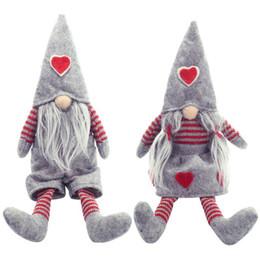 Enfeites de duende on-line-Feliz Natal Long Legged Santa Gnome Sueco Ornamento Boneca de Pelúcia Elf Brinquedos Artesanais Holiday Home Party Decor