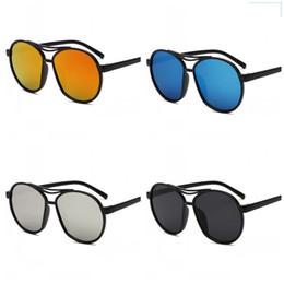 50cc0649d7 Espejo de luz reflectante Gafas de sol Color deslumbrante Gafas para  hombres y mujeres Gafas antireflejos Azul Negro Portátil 3olc C1