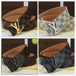 a6bbd3824 LOUIS VUITTON Fivela Projeto Cintos para Homens Mulheres Moda Cintos de  Couro Genuíno Cinto De Luxo Cinto De Marca Da Marca LV