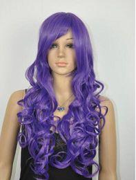 2019 jolies perruques pour femmes LIVRAISON GRATUITE + ++ nouveau Mode féminine assez longue perruque de cheveux violet foncé pour les femmes jolies perruques pour femmes pas cher