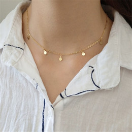 sterling silver choker collar Coupons - Authentic 925 Sterling Silver Geometric Choker Necklace For Women Trendy Round Charms Collar Jewelry Bohemia Gift