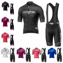 Vêtement vélo jersey en Ligne-Pro Team TOUR DE ITALY 2019 Été Hommes Cyclisme Maillot Ensemble Respirant Vélo De Course Sports Wear À Manches Courtes VTT Vélo Vêtements K041202