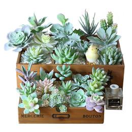 área de trabalho de plantas artificiais Desconto Verde Flocking Artificial Plantas Suculentas Bonsai Desktop Plantas Falso Decoração de Casamento Dia Dos Namorados Plante Artificielle MMA2046