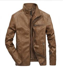 Jaqueta xl do revestimento do veludo dos homens on-line-Mens jaqueta de couro desenhador além de veludo colar de couro de inverno colarinho novo couro retro jaqueta jaqueta de venda quente de alta qualidade