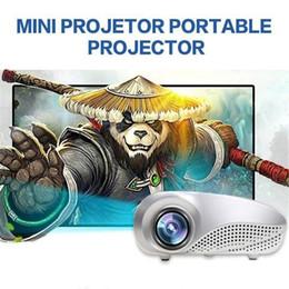 suportes de tv Desconto Suporte Projetor de cinema clássico de alta qualidade LED Mini Projector RD802 200Lumens Beamer Para Filme Amador AV TV VGA HDMI Mini LCD Projetor