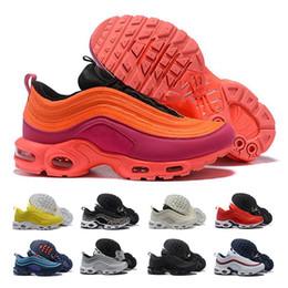 reputable site 1a70a 925f2 97 Tn Plus chaussures de course Pour Hommes Femmes 97s tn Triple Noir Blanc  Jaune Argent Designer Jogging Sneakers chaussures de sport Taille 36-46 ...