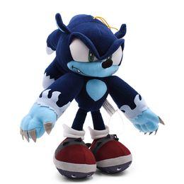 bolo de banda desenhada Desconto 30 centímetros Sonic Unleashed Sonic the Christmas Gift Werehog Macio Boneca animal dos desenhos animados Stuffed Peluche Plush brinquedo para crianças CJ191220
