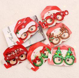 molduras de brinquedos Desconto Enfeites De Natal Engraçado Do Partido Do Brinquedo De Natal Óculos Frames Evening Kids Xmas Presentes Decoração DHL Livre