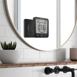2019 tênis de mesa vintage Impermeável termômetro higrômetro Digital Casa de banho Duche Wall Stand Relógio Umidade Temperatura Temporizador função Especial Chuveiro Kitchen Timer