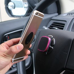 Вращающееся колесо онлайн-Universal Car Bracket Steering Wheel Rotating Car Magnetic Holder Mount Stand For Mobile Phone 4 colors