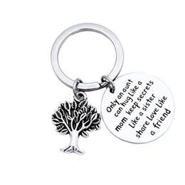 Coches de vida clave online-Llavero redondo de plata puerta del coche llavero vida Lucky Charm colgante Charm llavero para llavero Unisex regalo