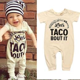 2019 niños de la moda de los mamelucos Baby boys Carta Imprimir Mamelucos INS Moda Verano Infantiles nuevos Boutique niños Escalada ropa B11 niños de la moda de los mamelucos baratos