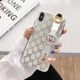 cassa del telefono orso marrone Sconti Con supporto per telefono cellulare Top Luxury Designer Pattern Custodie per iPhone X XS Max XR 6 6s 7 8 Custodia per telefono Plus