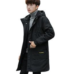 Canada Nouvelle veste en coton d'hiver pour les garçons et les adolescents avec des chapeaux de broderie conception moyenne et longue cardigan vêtements en coton marée fret gratuit Offre